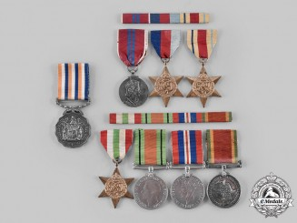 South Africa. The Second World War Medals to Lieutenant Colonel J.M De Klerk