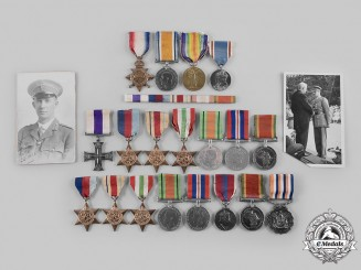 South Africa. The Awards of F.W Wagner, Military Cross Awarded for Escaping POW Camp, 1943