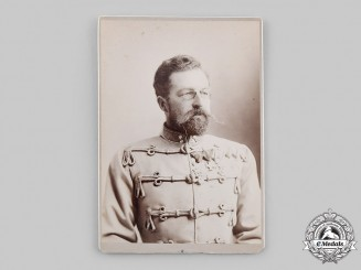 Saxe-Coburg and Gotha, Duchy. An 1894 Studio Portrait of Prince Philipp of Saxe-Coburg and Gotha-Koháry