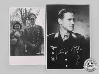 Germany, Luftwaffe. A Pair of Signed Photographs of Günther Rall