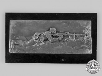 Germany, Heer. A Soldier with an MG-34 Plaque
