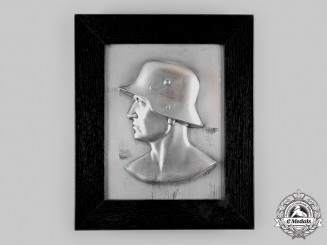 Germany, Heer. A Patriotic Soldier Wall Plaque by Fritz Paul Zimmer