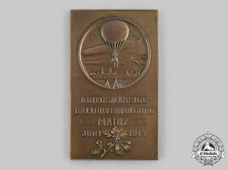 Germany, Imperial. A 1914 Military Balloon Tracking Award, by W. Sauerwein, Mainz