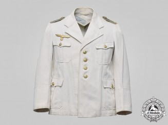 Germany, Kriegsmarine. An Oberleutnant's Summer Service Tunic, Named, 1939