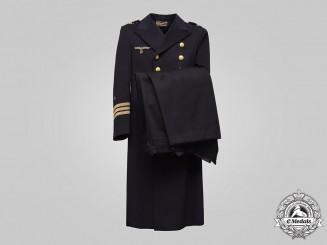 Germany, Kriegsmarine. A Korvettenkapitän Greatcoat and Long Trousers, by Bornemann