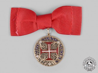 Portugal, Kingdom. An Order of the Christ in Gold, Ladies Issue, c.1950