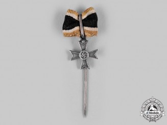 Germany, Wehrmacht. A Knight's Cross of the War Merit Cross Silver Stick Pin