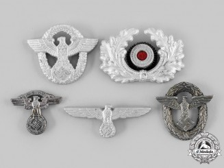 Germany, Third Reich. A Lot of Visor & Cap Insignia