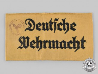 Germany, Wehrmacht. A Civilian Assistant's Armband