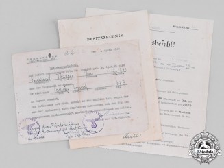 Germany, Heer. A Lot of Military Documents to Senior Sergeant Hans Trapper