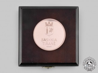 Albania, Republic. A Municipality of Tirana Civic Award Medal with Case c.2000