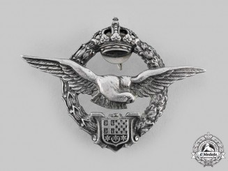 Yugoslavia, Kingdom. An Army Air Service Pilot Badge, by  Kovnica Sorlini, Varazdin