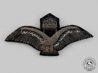 Hungary, Kingdom. An Air Force Bullion Cap Badge c.1940