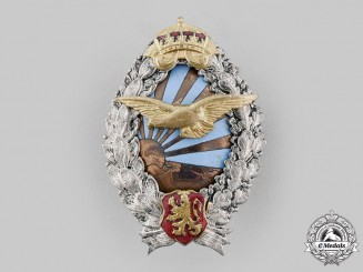 Bulgaria, Kingdom. An Air Force Pilot Badge, c.1935
