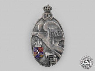 Romania, Kingdom. A Military Academy Graduate Badge, II Class Silver Grade, c.1935