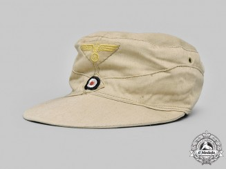 Germany, Kriegsmarine. An EM/NCO's M41 Tropical Field Cap, French Manufacture