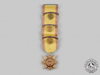 United States. A National Society Daughters of the Barons of Runnemede Badge in Gold, by J.E. Caldwell & Company