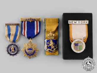 United States. Four Membership Badges Attributed to Mary A. Taylor c.1900