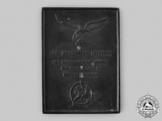 Germany, Luftwaffe. A Luftgau Norway Honour Plaque, by Kusu, Oslo