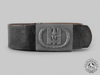 Germany, DRK. A German Red Cross (DRK) EM/NCO's Belt and Buckle