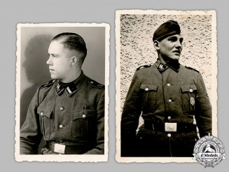 Germany, SS. A Pair of Photographs of SS Personnel