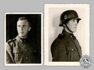 Germany, SS. A Pair of Waffen-SS EM/NCO Photographs