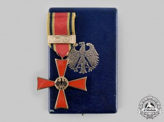 Germany, Federal Republic. An Order of Merit of the Federal Republic of Germany with 50 Year Clasp and Case of Issue