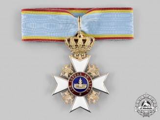 Mecklenburg-Schwerin. An Order of the Wendish Crown, Commander's Cross in Gold, c. 1900