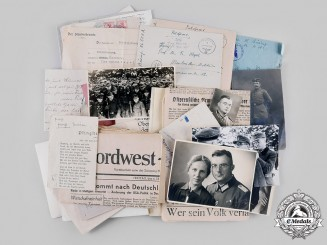Germany, Heer. A Lot of Documents & Photographs, Knight's Cross Recipient and Eastern Front KIA