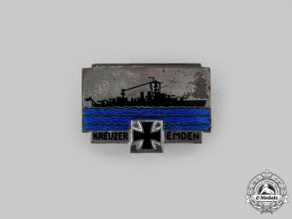 "Germany, Kriegsmarine. A Cruiser ""Emden"" Commemorative Badge, by Ferdinand Wagner"