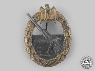 Germany, Kriegsmarine. A Coastal Artillery War Badge, by Friedrich Linden