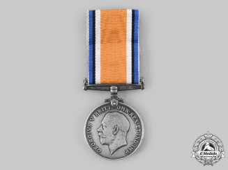 Canada, CEF. A British War Medal, to Private Leo St. Lewis, 75th Infantry Battalion, Canadian Army Service Corps