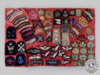United Kingdom, Canada. A Lot of Seventy-Six Army, Navy and Air Force Uniform Insignia
