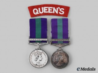 United Kingdom. Two General Service Medals 1918-1962