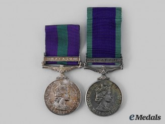 United Kingdom. Two General Service Medals