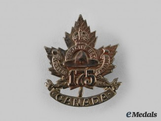 "Canada, CEF. A 175th Infantry Battalion ""Medicine Hat Battalion"" Cap Badge,"
