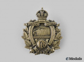 "Canada, CEF. A 176th Infantry Battalion ""Niagara Rangers"" Cap Badge"