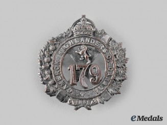 "Canada, CEF. A 179th Infantry Battalion ""Cameron Highlanders of Canada"" Glengarry Badge, by Dingwall"