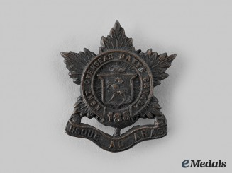 "Canada, CEF. A 186th Infantry Battalion ""Kent Battalion"" Cap Badge, by Wellings, c.1916"