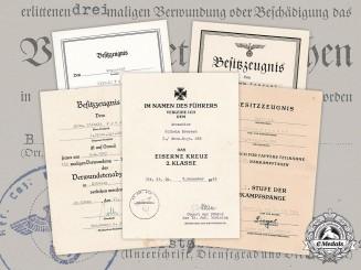 Germany, Heer. An Award Document Collection To Infantry Gefreiter Wilhelm Prerost (EK2)