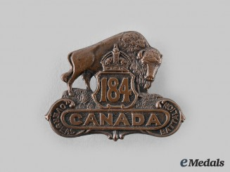 Canada, CEF. A 184th Infantry Battalion Cap Badge