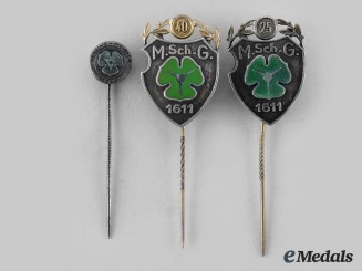 Hannover, State. A Set of Marksmanship Association Stickpins