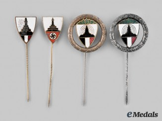 Germany, DRKB. A Lot of Deutscher Reichskriegerbund Kyffhäuser Stickpins