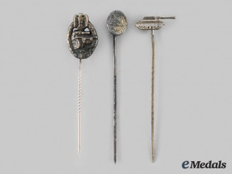 Germany, Wehrmacht. A Lot of Miniature Award Stickpins