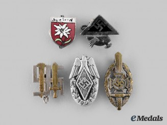 Germany, Third Reich. A Lot of Lapel & Membership Badges