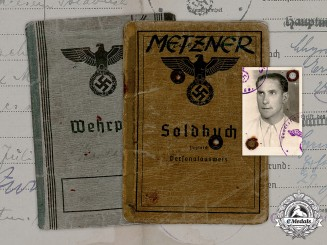Germany, Heer. A Wehrpaß & Soldbuch To Sudetendeutscher Gefreiter Max Metzner (POW guard in Norway)
