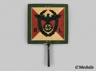 Germany, NSDAP. A Reichsleiter Fender Plate