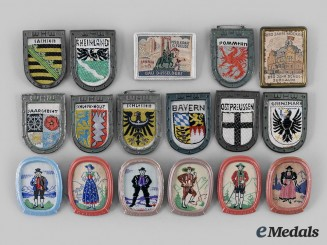 Germany, Third Reich. A Lot of Winterhilfswerk Campaign Donor Badges