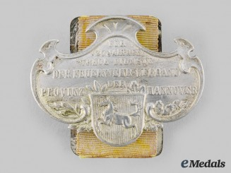 Hannover, Kingdom. A Hannover Fire Brigade 25-Year Long Service Badge