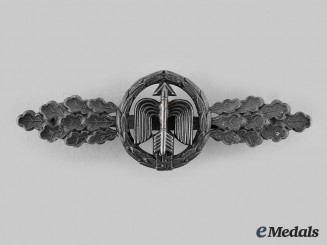 Germany, Luftwaffe. A Short-Range Day Fighter Clasp, Silver Grade, by G.H. Osang